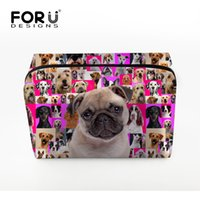 Wholesale Portable Cute Pug Dog Make up Bags Multifunction Travel Cosmetic Bag for Makeup Toiletry Pouch Makeup Organizer Bags for Ladies