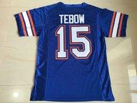 Wholesale Tim Tebow Gators Jersey Florida Gators Tim Tebow College Football Jersey Men s Stitched Blue White Jerseys S XL