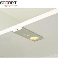 al por mayor luces de muebles 12v-Ecobrt * 2016 12v 2w luz del gabinete del sensor de LED luces con interruptor de la puerta bajo la iluminación de muebles de gabinete