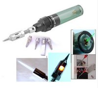 Wholesale HOT SALE Cordless Pen Shape Butane Gas Soldering Solder Iron Tool with free tips