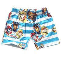 Wholesale Little boy swim trunks cartoon paw dog baby boys board shorts kids swimwear children bathing suit swimsuit