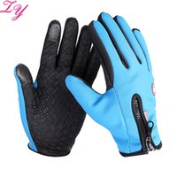 Wholesale Thermal Cycling Gloves Full Finger Winter Protect Gloves aterproof Outdoor Warm Windproof Gloves Cycling Equipment ZY