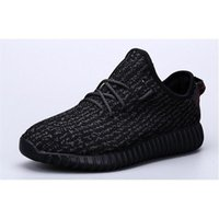 Cheap Milan Fashion Yeezy Boost 350 Pirate Black Best Quality Authentic Yeezy Boost Running Shoes With Shoes Box Size 9.5