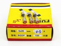 Wholesale 100pcs A MM Fuses Fast Quick Blow Glass Tube Fuse x20mm V A F0 AL250V