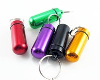 aids pills - Round First Aid Aluminum Bottle of Pills Bottles of Medicine Outdoor Strange New Keychain Portable Cartridge Box Promotions Gift