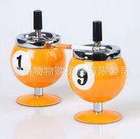 Wholesale Creative Stainless Steel Eight Balls Ashtray Billiards Model Tobacco Jar