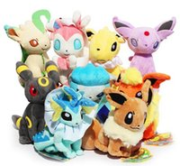 Wholesale 9 Styles cm Poke plush toy Glaceon Leafeon Eevee Vaporeon Flareon Espeon Jolteon Umbreon stuffed doll Best gift
