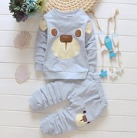 bears sportswear - Childrens Clothing Sets Cartoon Bear Sweaters Pants Suits Spring Autumn Long Sleeve Sportswear Kids Clothes Sportswear Outfits