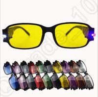 Wholesale 100PCS LJJM125 Elders Reading Unisexy Glasses Presbyopic Night Glasses Magnet Therapy Eyewear Ultraviolet proof Flashlight Glasses