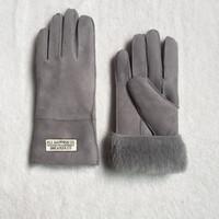 army leather gloves - New Genuine Leather gloves women Real Sheepskin Lady Warm Winter Mitten Gloves Girls Winter Warm Mittens Gloves