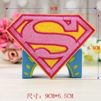 Wholesale 8 size Wholeslae Pieces Cartoon Comic Movie Superman Embroidered Iron On Applique Patch