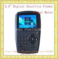 Wholesale 3 quot TFT LCD Portable Digital Satellite Finder Meter Drop Shipping