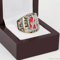 alabama band - WITH WOOD BOX NCAA Alabama Crimson Tide D design High quality Replica Championship ring STR0