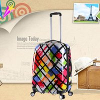 Wholesale Han edition PC universal wheel luggage pull rod box colorful