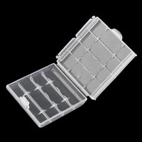 Wholesale New Battery Storage Box Hard Plastic Case Cover Holder for AA AAA Batteries Transparent