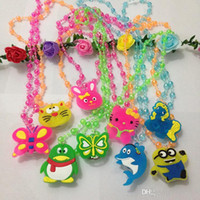 bead spreads - Emitting crystal bead necklace jewelry Hot small children spread the goods Yiwu Small Commodity Stores
