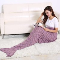 Wholesale 2016 Cheap Mermaid Tail Sleeping Blankets Foreign Trade Blanket Nobility Nap Blanket Air Conditioning Blanket HY1565