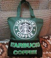 Wholesale Cute Starbucks Coffee travel shoulder bag big size cm shopping bag BL