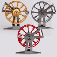 Wholesale Full metal ultra light former ice fishing Reels wheel fly fishing reel CNC Machined Aluminum Hunting fly fishing reels