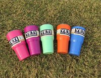 Wholesale 2016 colors Tumbler Rambler Cups Yeti Coolers Cup oz Yeti Sports Mugs Large Capacity Stainless Steel Travel Mug