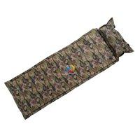 air foam pillow - Self Inflating Camping Mattress Inflatable Sleeping Pad Camping Air Mattress Portable Folding Beach Mat with Pillow
