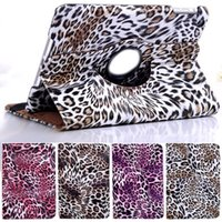 Wholesale Leopard Pattern Smart Rotating PU Leather Case Cover For Apple iPad Air Mini Flip Stand Cases
