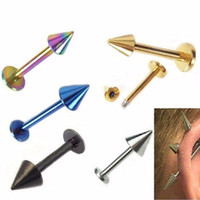 Wholesale 50piece mix colors L Stainless Steel Body piercing Jewelry Eyebrow Nose Labret Lip Ring Piercing Tragus Cartilage Earring