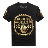 shirts - 2016 New Robin s Jean Shirts Mens Robin Jeans Shirts Cotton robins t shirt Hip Hop Men Short Sleeve T Shirt