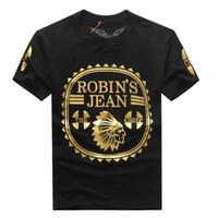 plain t shirts - 2016 New Robin s Jean T Shirts Mens Robin Jeans T Shirts Cotton robins Camo Plain Color men s Hip Hop Men Short Sleeve tshirt