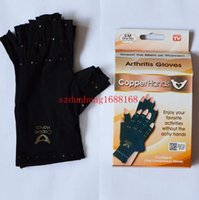Wholesale 120pcs Copper Hands Men Women Black Copper Hands Arthritis Gloves Therapeutic Compression For Sports For Health Care With Logo Package