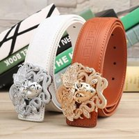 belt buckle women s - New listing fashion High quality leather Men belt luxury brand belt for Women