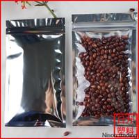 Precio de Bolsas de embalaje reutilizables-16 * 24cm, 100pcs translúcidos bolsas con cierre zip de aluminio chapado - Recepción clara de la cremallera con cierre metálico bolsas de plástico Lámina de Mylar