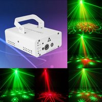 Wholesale New Hot EU Plug Mini Portable V Colorful Laser Meteor Projector Light DJ KTV Home Party Dsico Xmas LED Stage Lighting