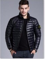 big man briefs - Brand New Men Down jacket spring autumn winter stoned is land collar thin coats men brief paragraph big yards