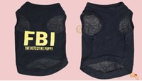 Wholesale Stylish FBI The Detective Puppy Cotton Vest for Pets Dogs Assorted Sizes Dog Clothes Dog Shirt Dog dress pet