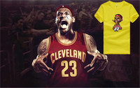 Wholesale 2016 summer Good Quality LBJ Cavaliers Champion LeBron James Q T Shirt High Top LeBron James Sport T Shirt High quality LBJ James