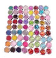 Wholesale Hot Sale Color set random Nail Glitter Powder Decor Nail Art Powder Dust Bottle Set