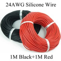 Wholesale M Black M Red awg flexible silicone wire gauge high temperature Tinned copper cable silicone rubber wire