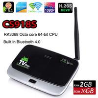 bi box - New CS918S Octa Core RK3368 Cortex Octa core bi Smart Android TV Box GB GB Built in MP Camera Mic Bluetooth RJ45 K Player XBMC