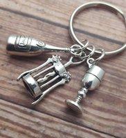 alcohol cartoons - 12pcs Wine Keyring Alcohol Keychain Wine Charms Lover Drink Keyring I Love Wine Keychain