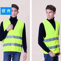 Wholesale reflective safety vest coat Sanitation vest Traffic safety warning clothing vest
