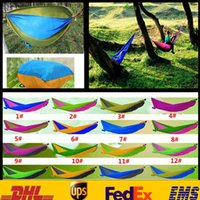 Wholesale Best Selling Summer Indoor Outdoor Hammock For Two People Portable Parachute Cloth Hammock Max Load KG cm Mix Color GD H07