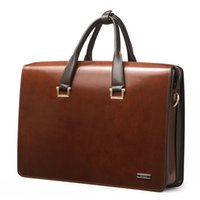 attache bag - Upgrade quot Laptop Bag Mens Genuine Leather Vintage Formal Business Lawyer Briefcase Messenger Shoulder Attache Portfolio
