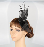 base feathers - 15 colors glamorous sinamay material fascinator base hair accessories church headpiece bridal hat suit for all season MYQ007