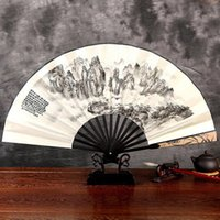 big feng shui - Manual folding fan man Chinese sub summer silk big classical craft antique silk fans folding fans A representative of the Chinese style fans