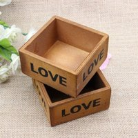 Wholesale 1Pcs Fashion Vintage Retro Wooden Storage Box for Jewellery Essence Plant Holder Casual LOVE Pattern Bottles Gift HSL0013