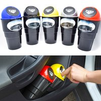 Wholesale High quaily Black portable Car Trash Can plastic Accessory for versatility removable garbage holderr