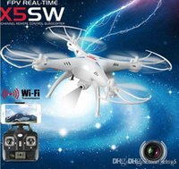 Wholesale Drones SYMA X5SW WIFI RC Drone FPV Helicopter Quadcopter with HD Camera G Axis Real Time RC Helicopter Toy better
