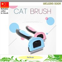 Wholesale Pet Grooming Comb Cat Dog Tools Soft Plastic Handle Brush Hair Comb For Small Dogs cats Pet Supplies deShedding Cleaning