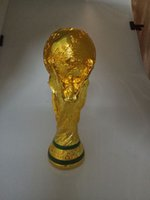 awards and trophies - 2014 Resin Football World Cup Trophy cm kg Model Full Size Golden Champions Trophies and Award Cups Soccer Fans Souvenirs